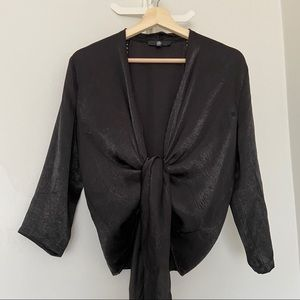 MISSGUIDED Tie Front Blouse -Size US 4